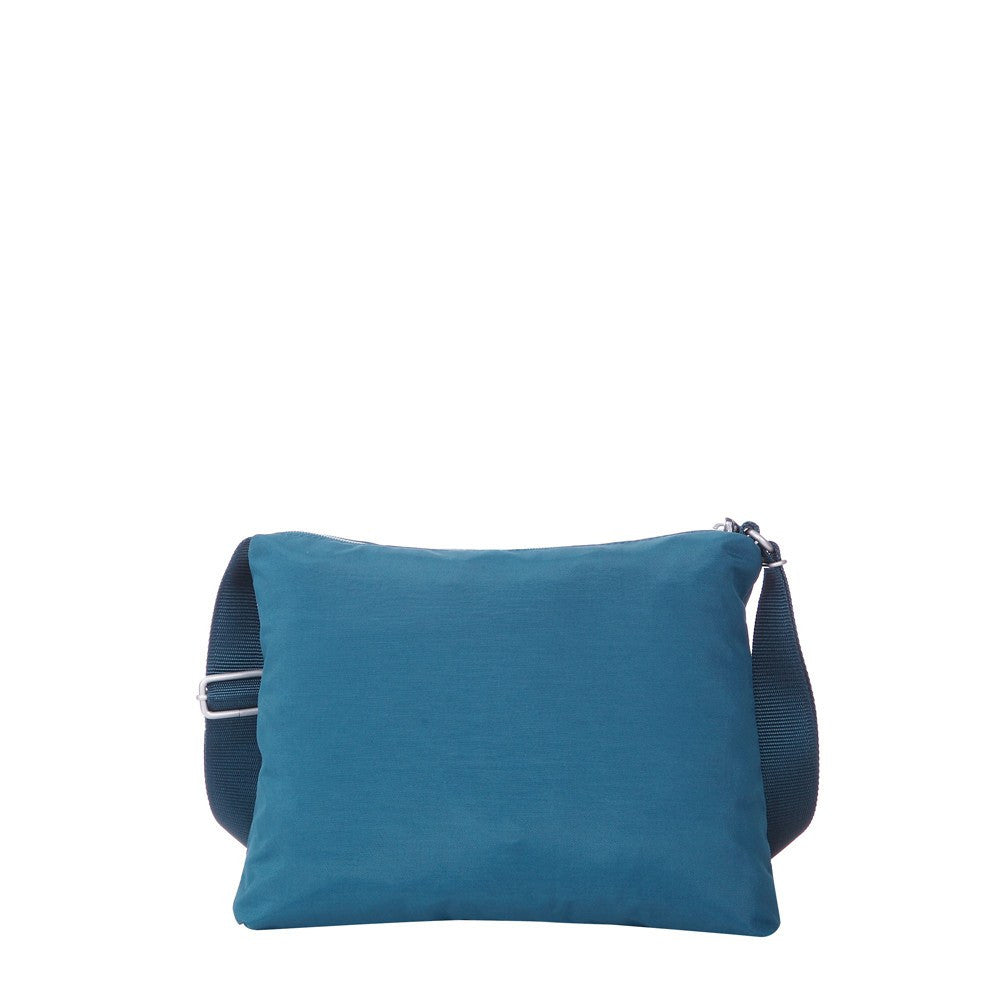 Crossbody Bag - Genoa Two-Tone Casual Crossbody Bag Back [Navy Blue]