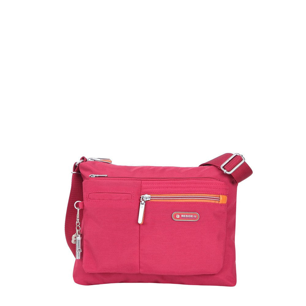 Crossbody Bag - Genoa Two-Tone Casual Crossbody Bag Front [Heart Red]