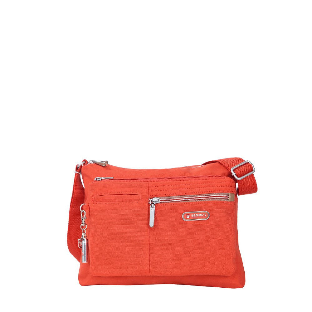 Crossbody Bag - Genoa Two-Tone Casual Crossbody Bag Front [Sweet Orange]