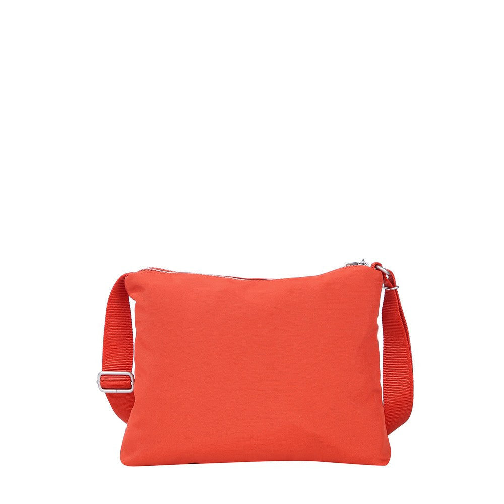 Crossbody Bag - Genoa Two-Tone Casual Crossbody Bag Back [Sweet Orange]