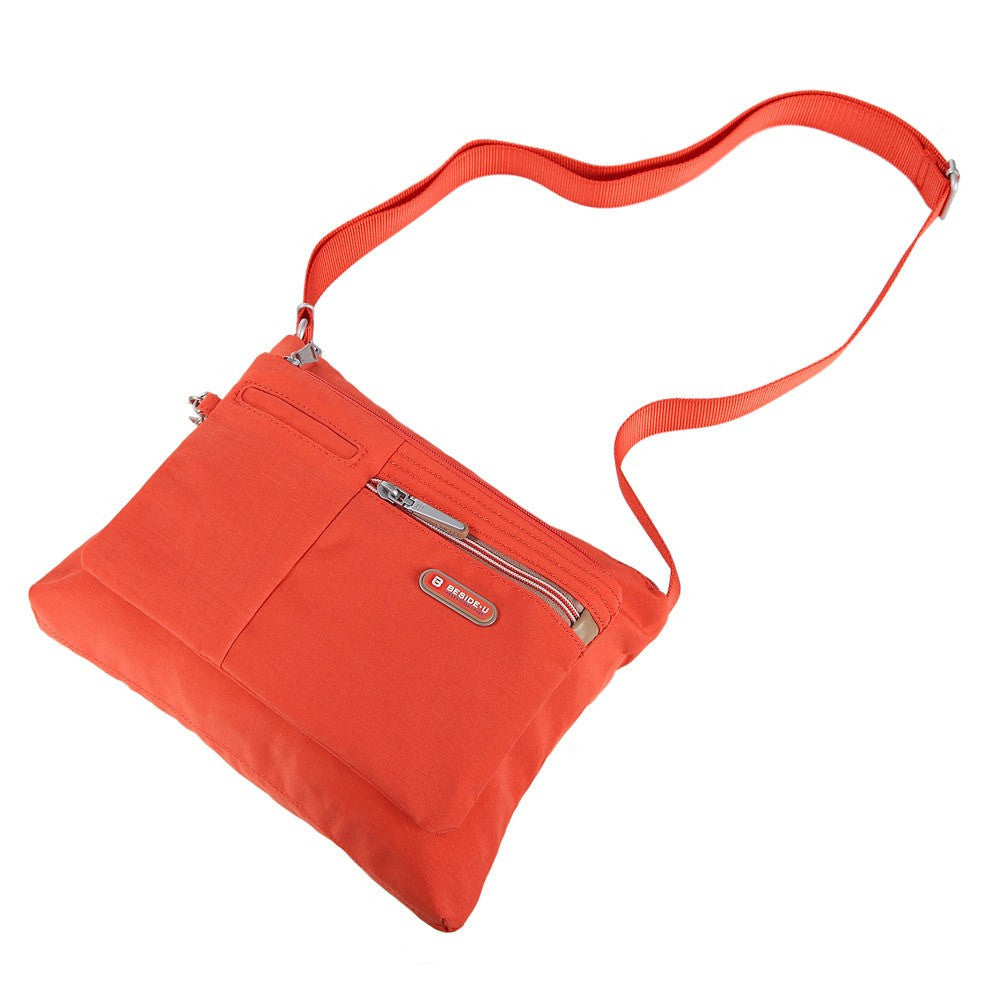 Crossbody Bag - Genoa Two-Tone Casual Crossbody Bag Lying Down [Sweet Orange]