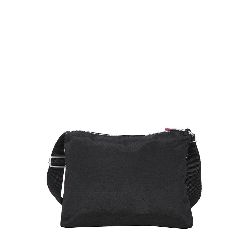 Crossbody Bag - Genoa Two-Tone Casual Crossbody Bag Back [Black And Dark Red]