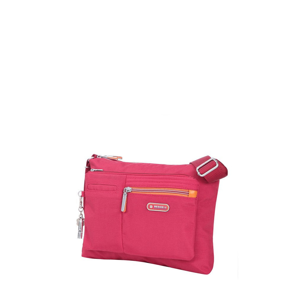 Crossbody Bag - Genoa Two-Tone Casual Crossbody Bag Angled [Heart Red]
