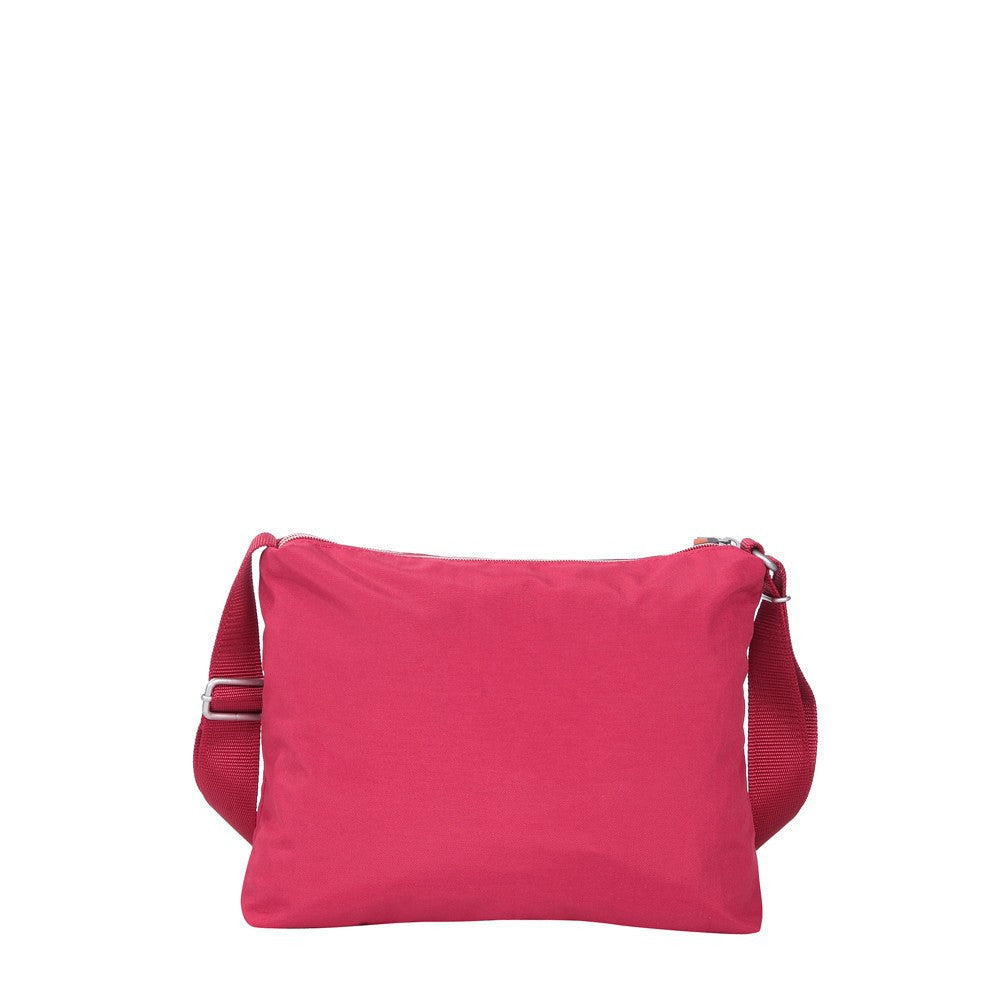 Crossbody Bag - Genoa Two-Tone Casual Crossbody Bag Back [Heart Red]