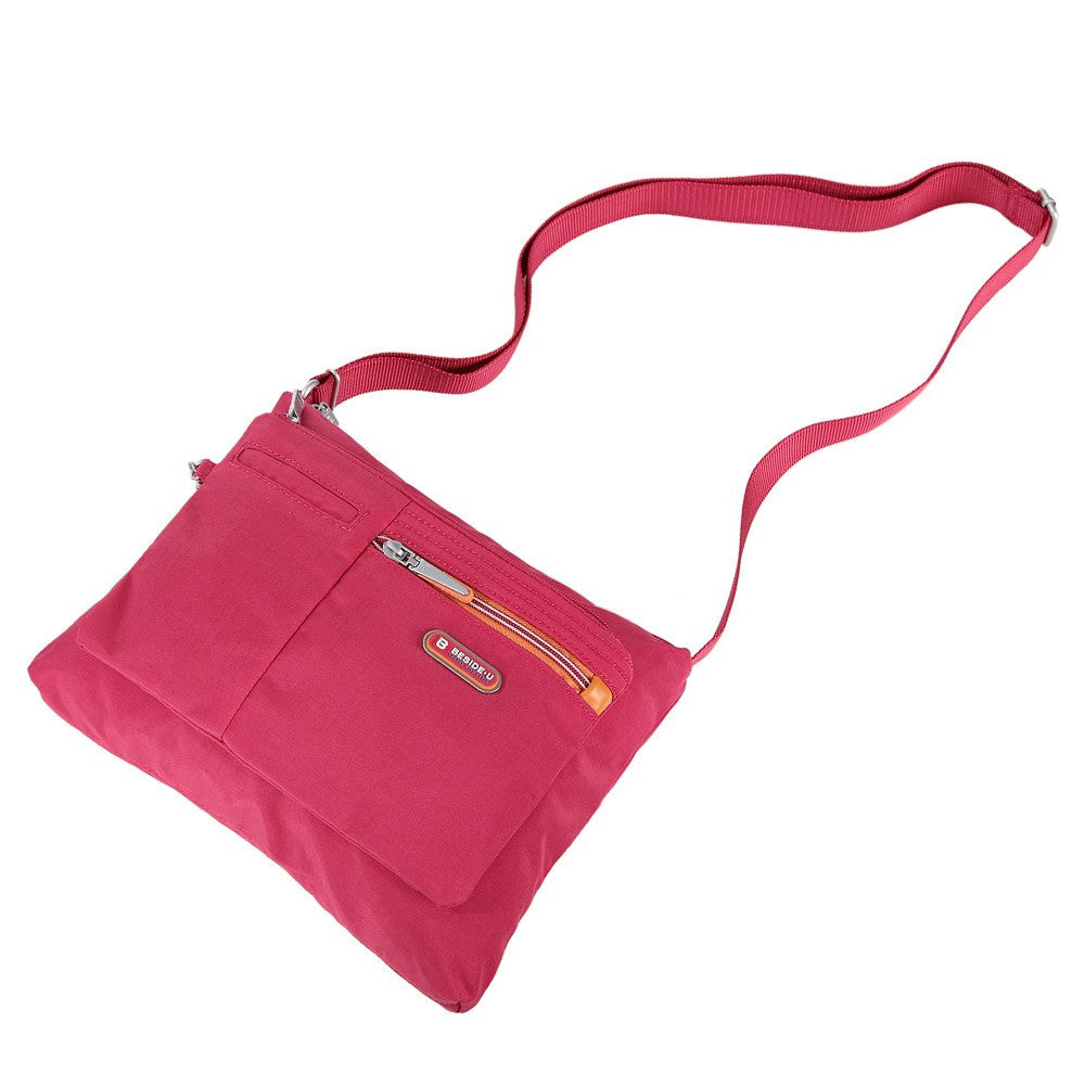 Crossbody Bag - Genoa Two-Tone Casual Crossbody Bag Lying Down [Heart Red]