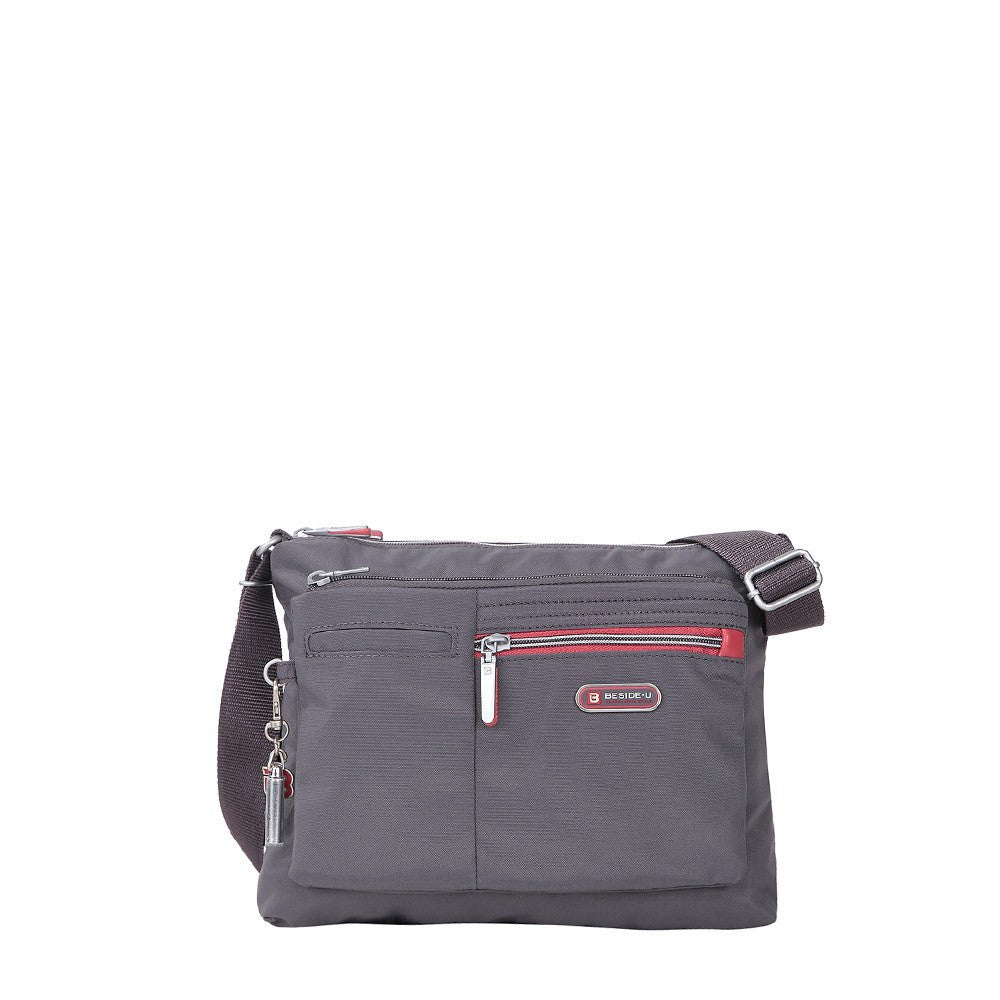 Crossbody Bag - Genoa Two-Tone Casual Crossbody Bag Front [Rabbit Grey]