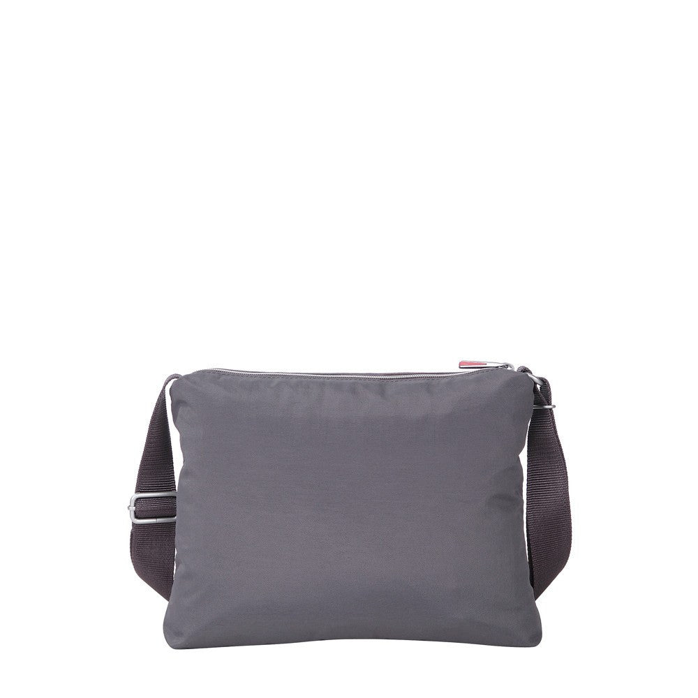 Crossbody Bag - Genoa Two-Tone Casual Crossbody Bag Back [Rabbit Grey]