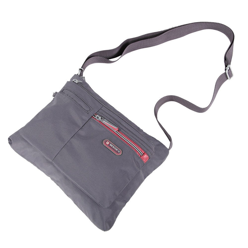 Crossbody Bag - Genoa Two-Tone Casual Crossbody Bag Lying Down [Rabbit Grey]
