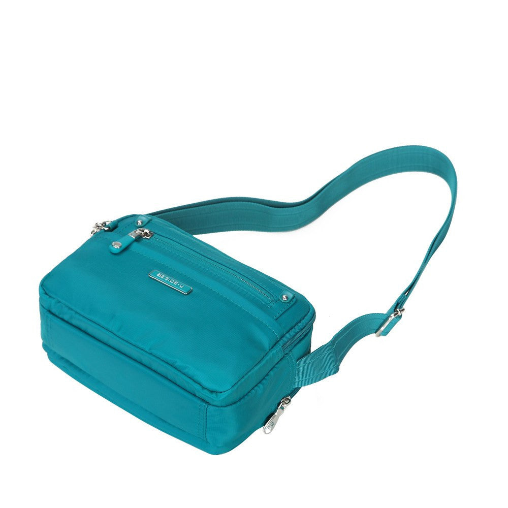 Crossbody Bag - Imperia Leather Trimmed Small Crossbody Bag Lying Down [Ocean Blue]