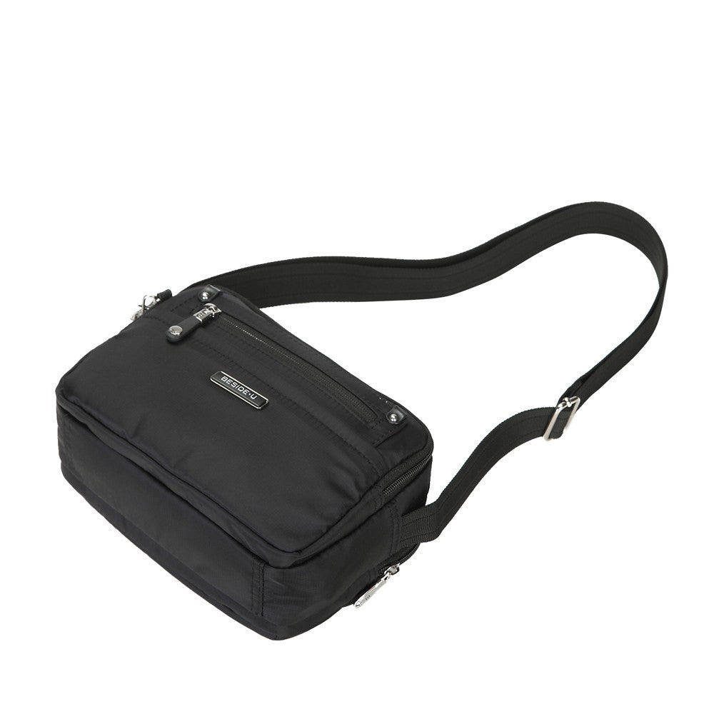 Crossbody Bag - Imperia Leather Trimmed Small Crossbody Bag Lying Down [Black]
