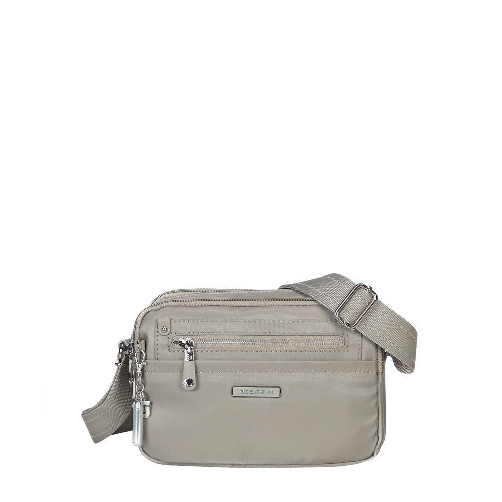 Crossbody Bag - Imperia Leather Trimmed Small Crossbody Bag Front [Moon Grey]
