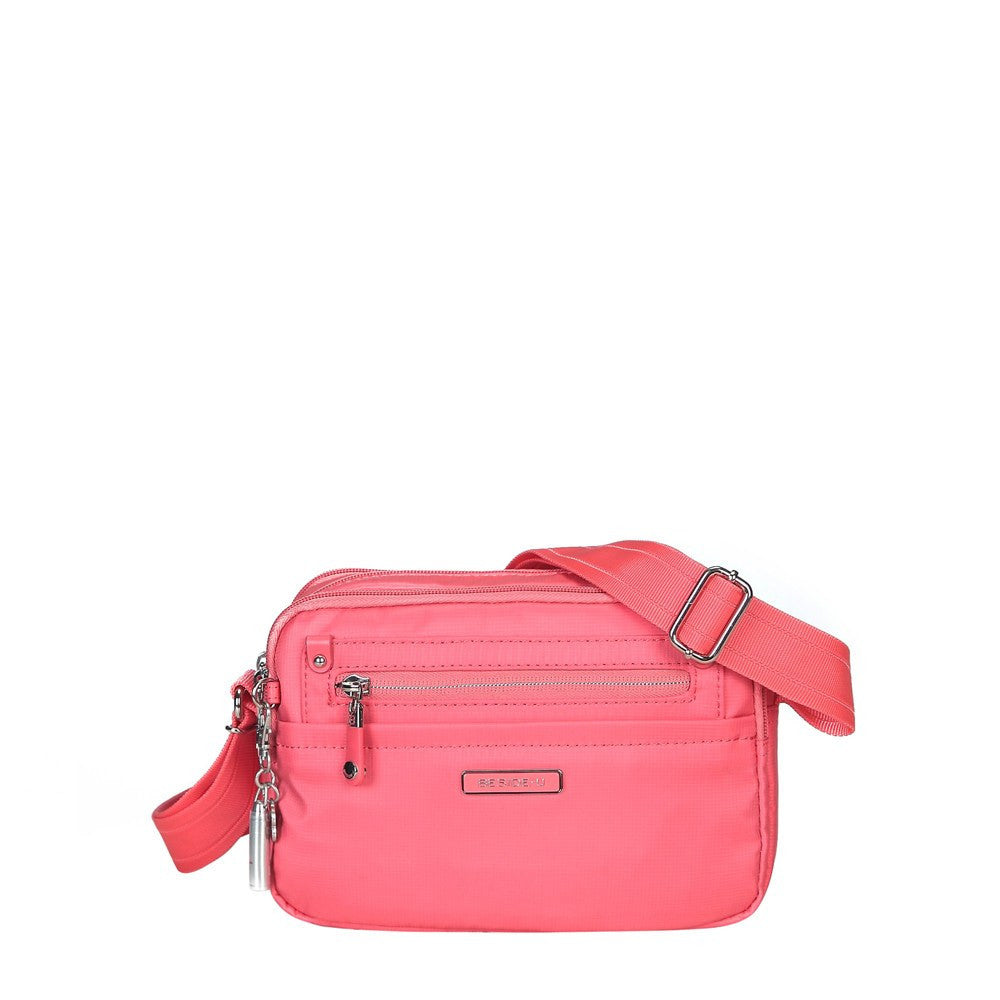Crossbody Bag - Imperia Leather Trimmed Small Crossbody Bag Front [Coral Pink]
