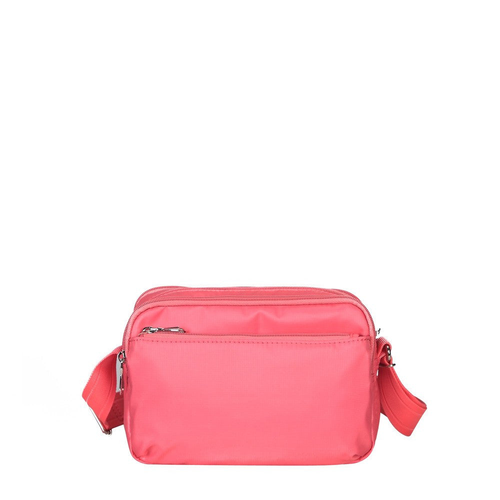 Crossbody Bag - Imperia Leather Trimmed Small Crossbody Bag Back [Coral Pink]