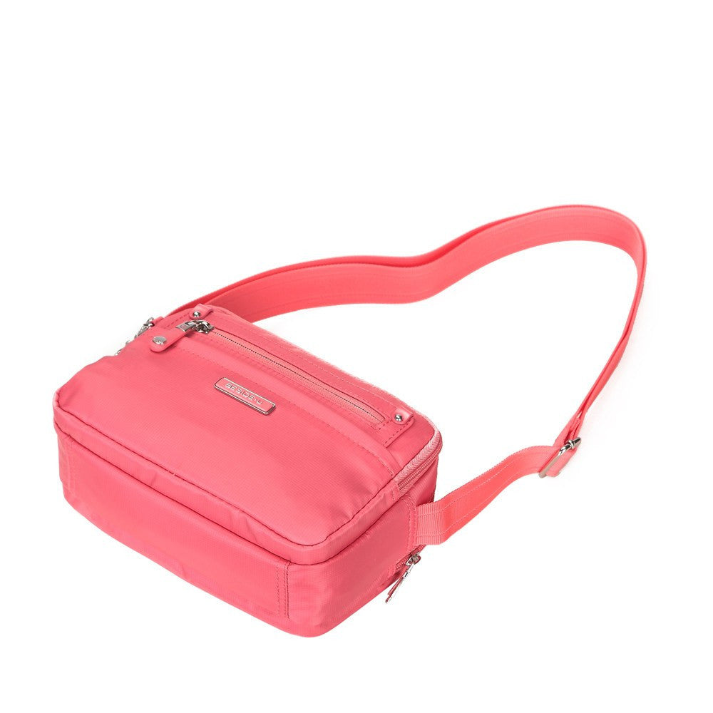 Crossbody Bag - Imperia Leather Trimmed Small Crossbody Bag Lying Down [Coral Pink]