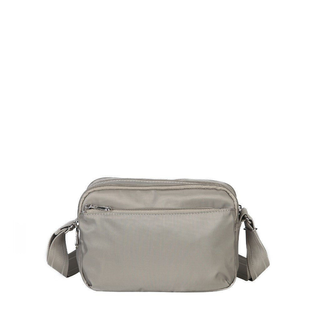 Crossbody Bag - Imperia Leather Trimmed Small Crossbody Bag Back [Moon Grey]
