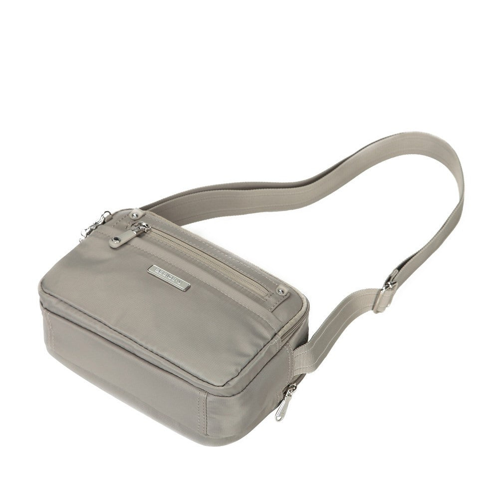 Crossbody Bag - Imperia Leather Trimmed Small Crossbody Bag Lying Down [Moon Grey]