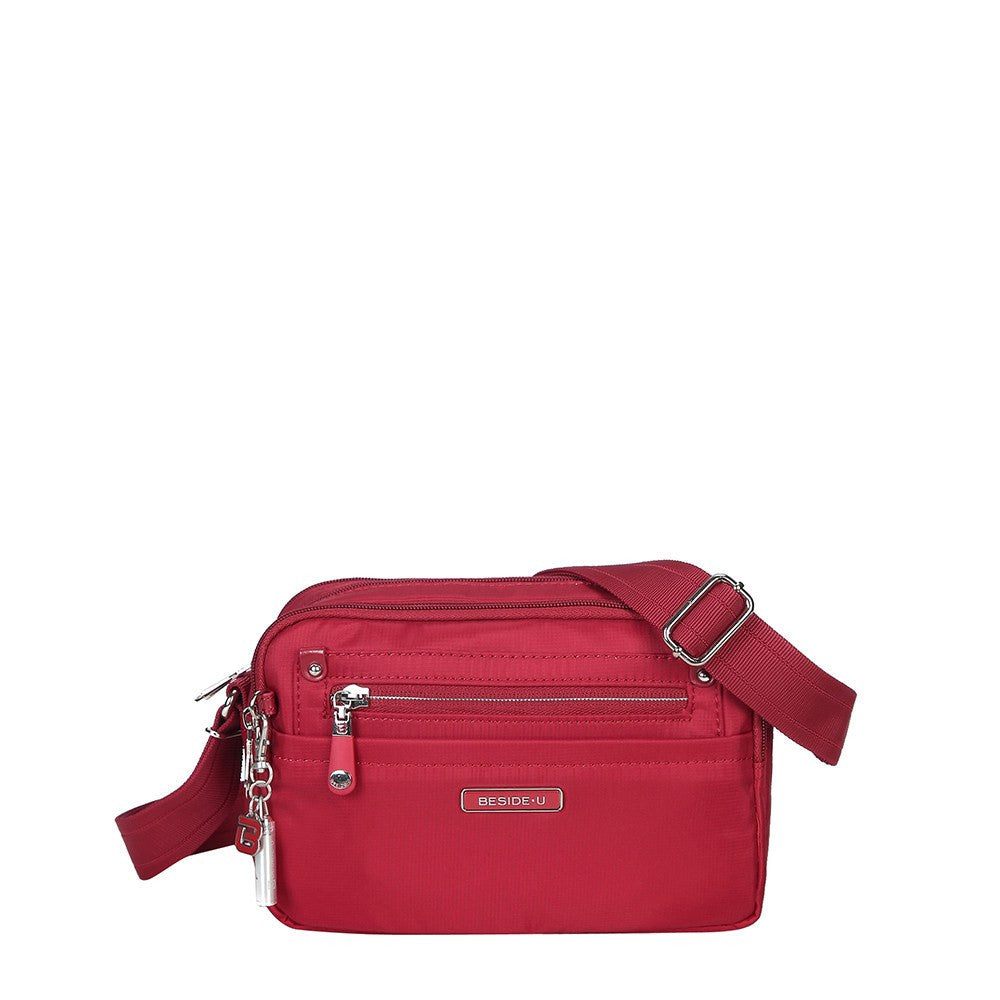 Crossbody Bag - Imperia Leather Trimmed Small Crossbody Bag Front [Jester Red]
