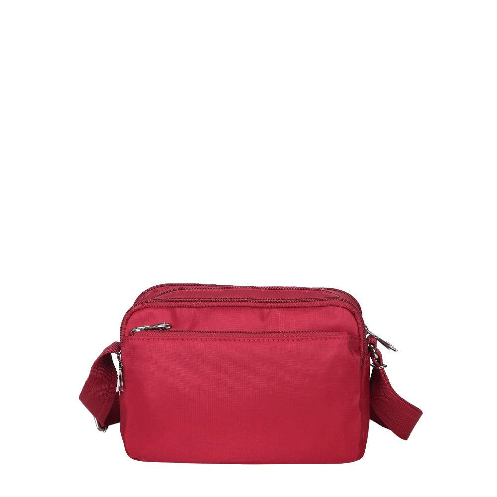 Crossbody Bag - Imperia Leather Trimmed Small Crossbody Bag Back [Jester Red]