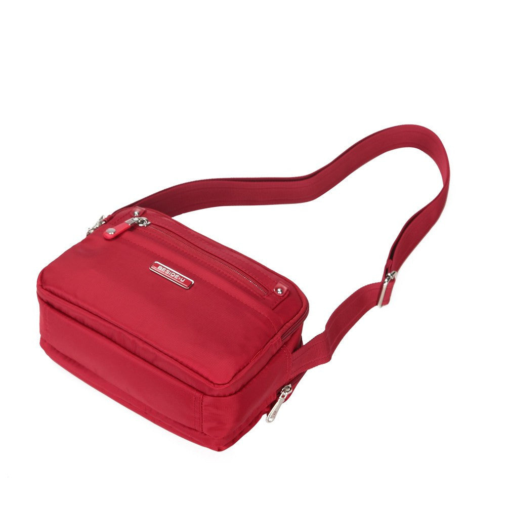 Crossbody Bag - Imperia Leather Trimmed Small Crossbody Bag Lying Down [Jester Red]