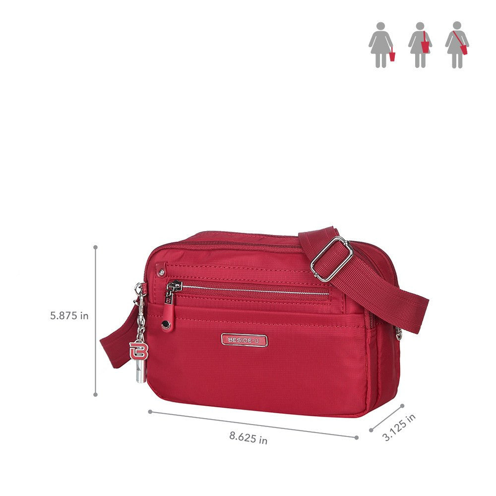 Crossbody Bag - Imperia Leather Trimmed Small Crossbody Bag Size [Jester Red]