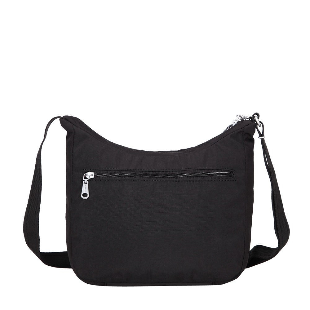 Crossbody Bag - Juliana Debossed Travel Crossbody Bag Back [Black]
