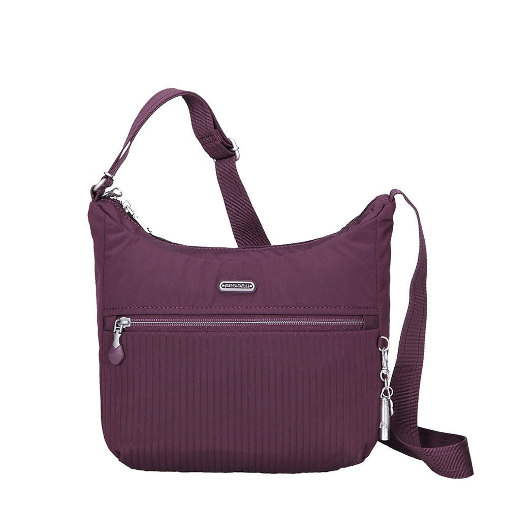 Crossbody Bag - Juliana Debossed Travel Crossbody Bag Front [Blackberry Wine]