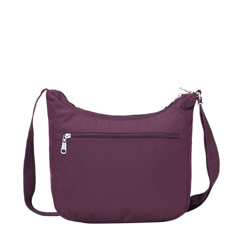 Crossbody Bag - Juliana Debossed Travel Crossbody Bag Back [Blackberry Wine]