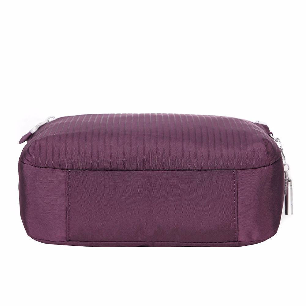 Crossbody Bag - Juliana Debossed Travel Crossbody Bag Bottom [Blackberry Wine]