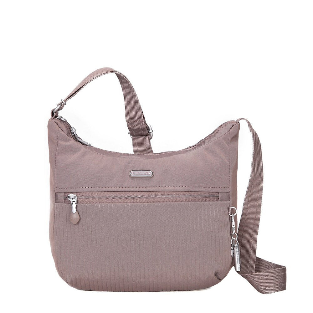 Crossbody Bag - Juliana Debossed Travel Crossbody Bag Front [Zinc Grey]