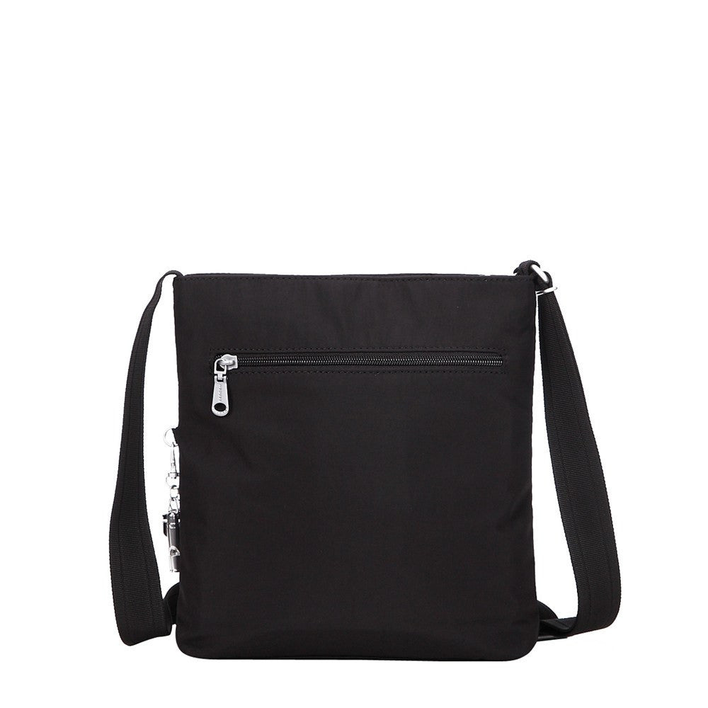 Crossbody Bag - Mika Debossed Casual Crossbody Bag Back [Black]