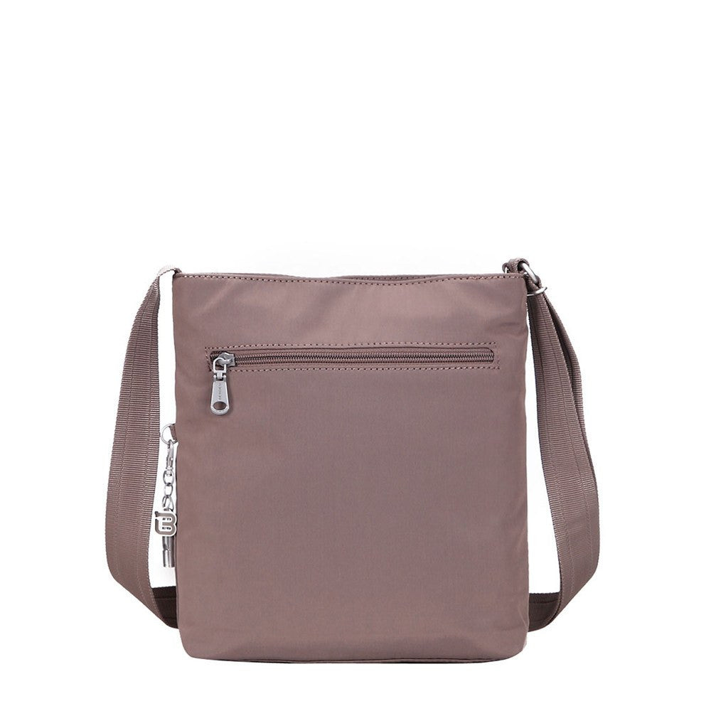 Crossbody Bag - Mika Debossed Casual Crossbody Bag Back [Zinc Grey]