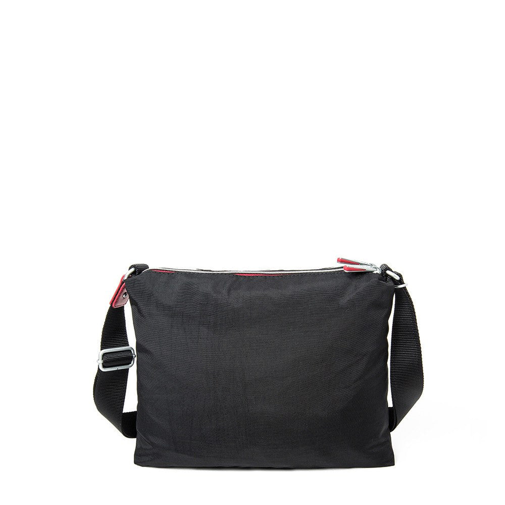 Crossbody Bag - Ottawa Two-Tone City Crossbody Bag Back [Black And Dark Red]
