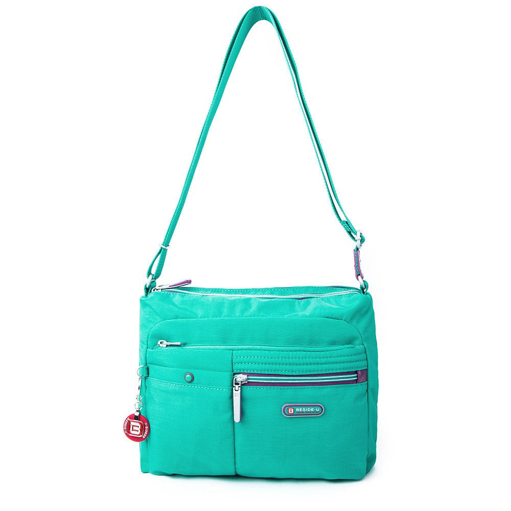 Crossbody Bag - Ottawa Two-Tone City Crossbody Bag Front [Atlantis Teal Blue]