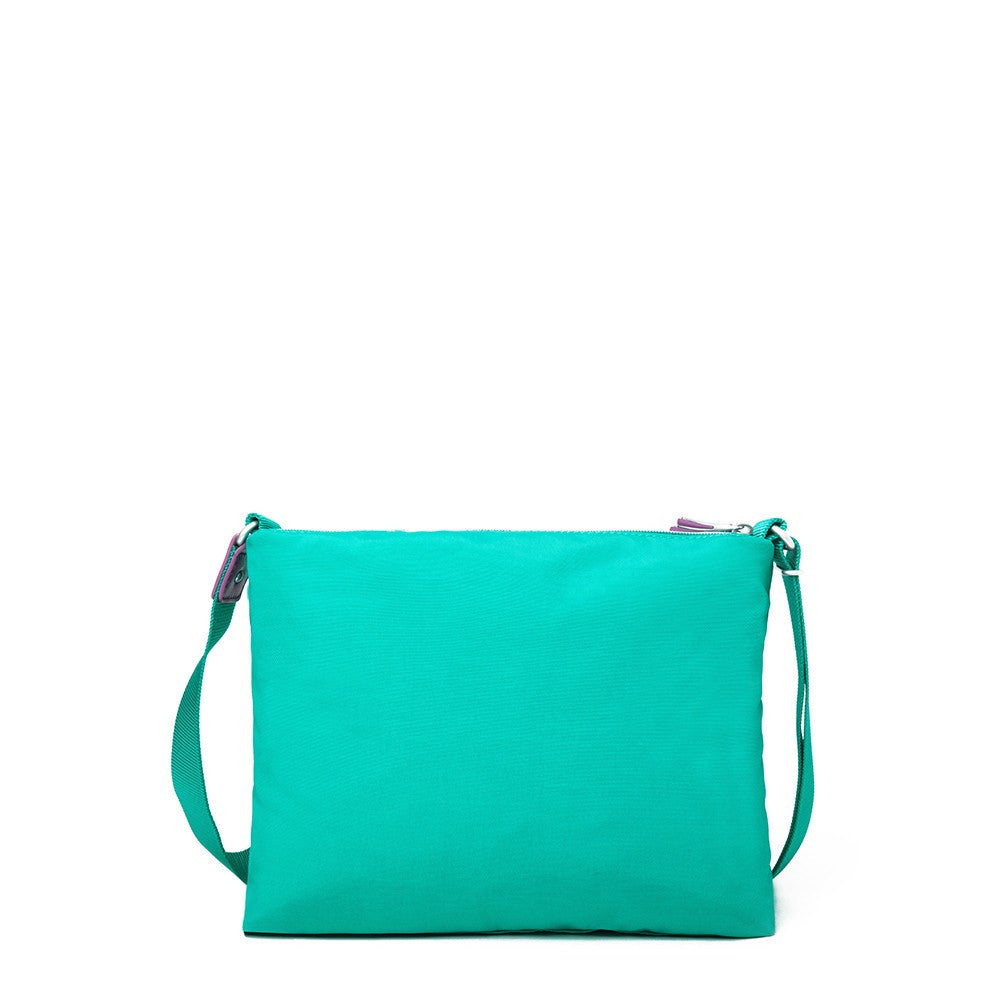 Crossbody Bag - Ottawa Two-Tone City Crossbody Bag Back [Atlantis Teal Blue]