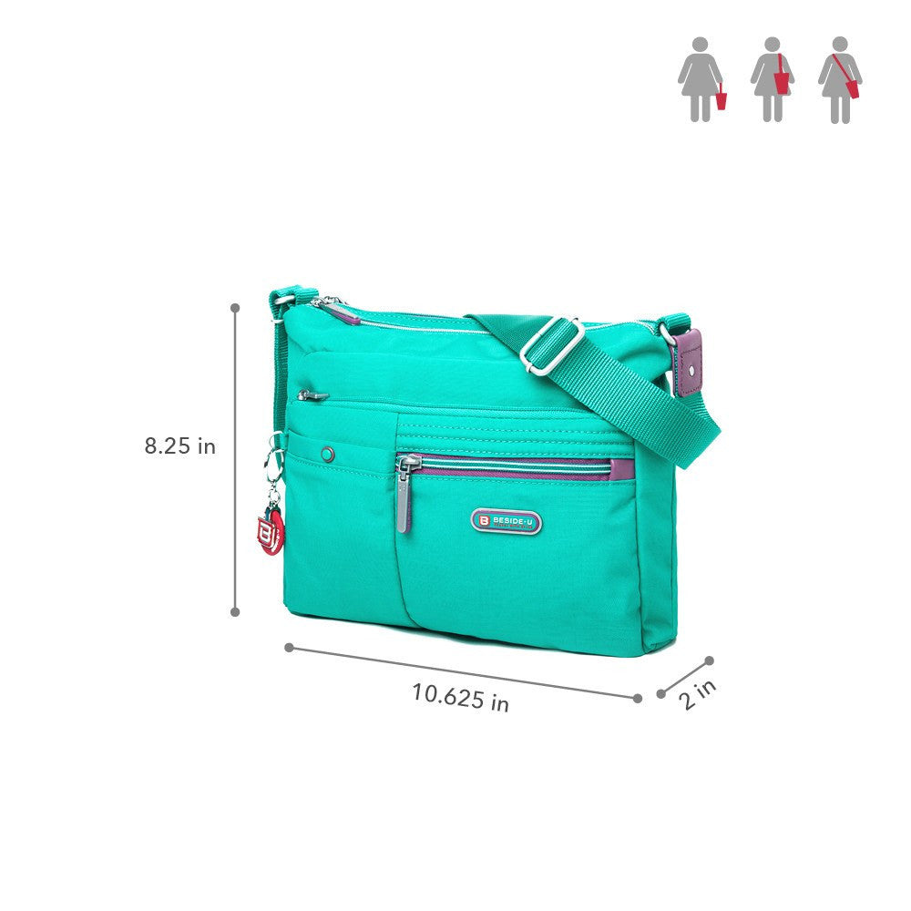 Crossbody Bag - Ottawa Two-Tone City Crossbody Bag Size [Atlantis Teal Blue]