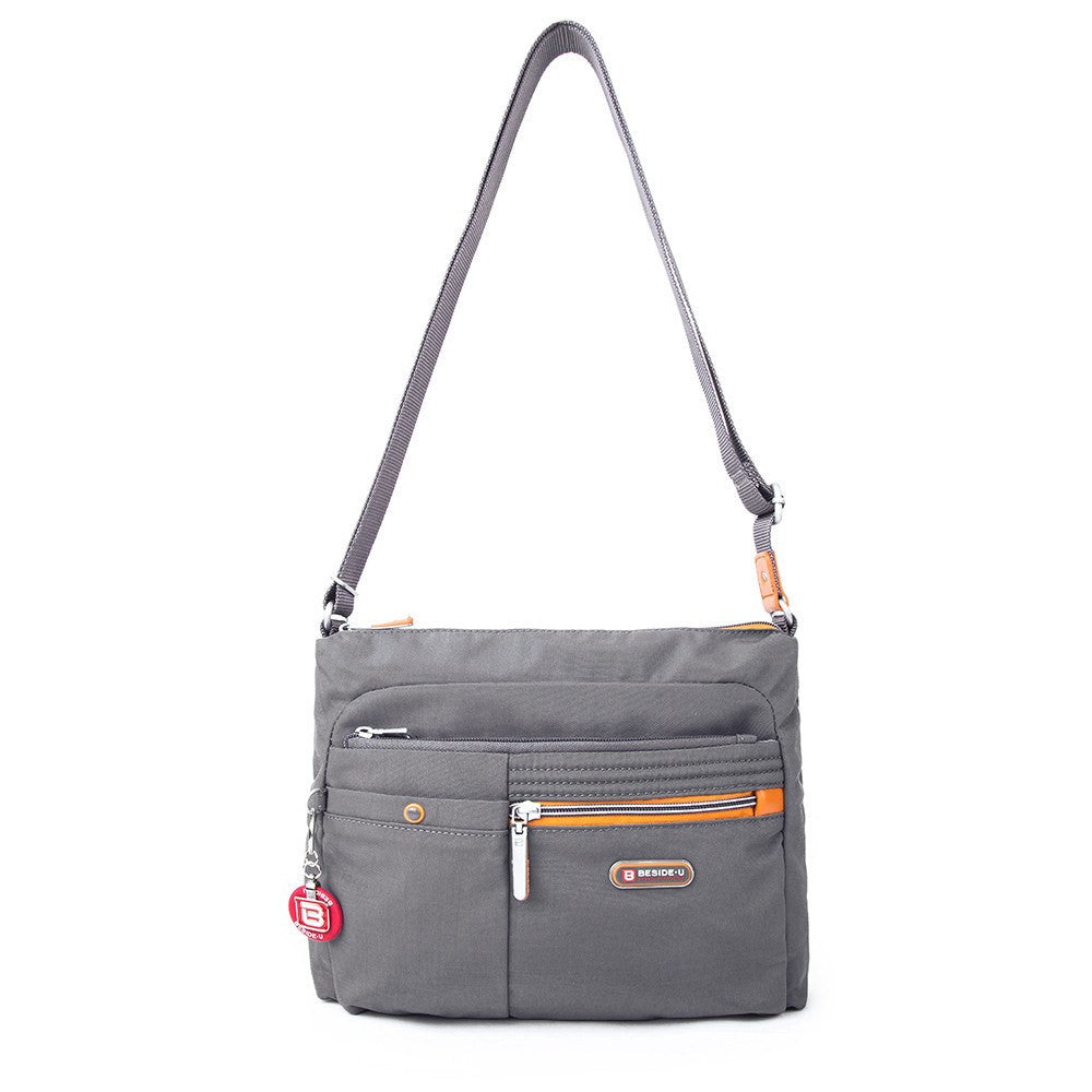 Crossbody Bag - Ottawa Two-Tone City Crossbody Bag Front [Castlerock Grey]