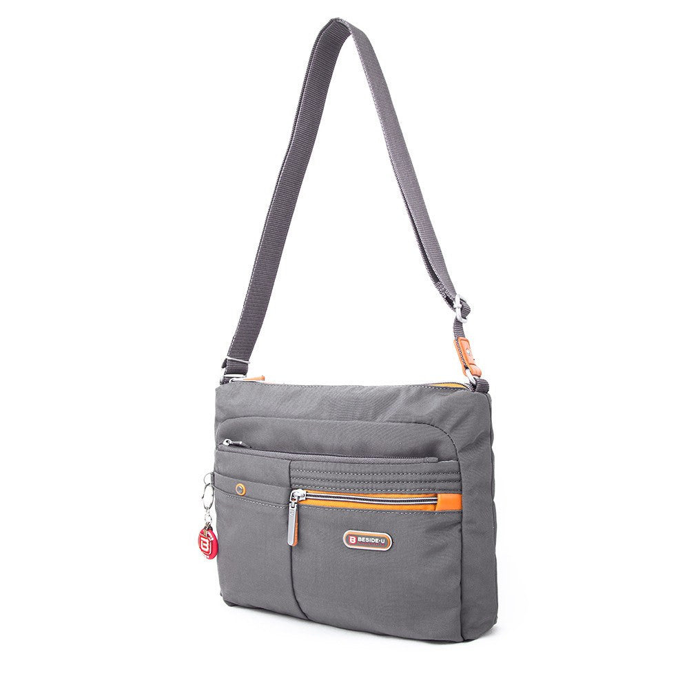 Crossbody Bag - Ottawa Two-Tone City Crossbody Bag Angled [Castlerock Grey]