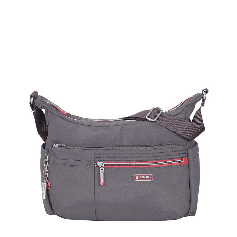 Crossbody Bag - Picardy Two-Tone Travel Crossbody Bag Front [Rabbit Grey]