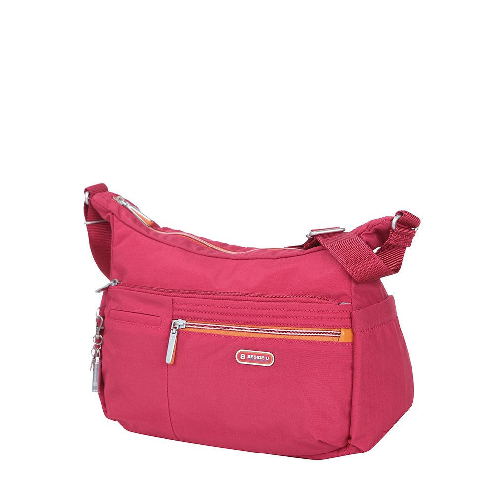 Crossbody Bag - Picardy Two-Tone Travel Crossbody Bag Angled [Heart Red]