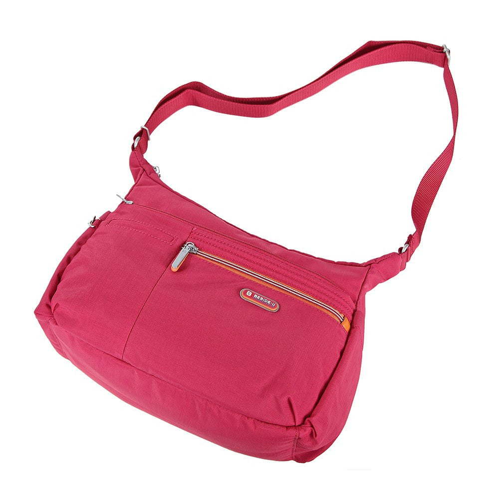 Crossbody Bag - Picardy Two-Tone Travel Crossbody Bag Lying Down [Heart Red]