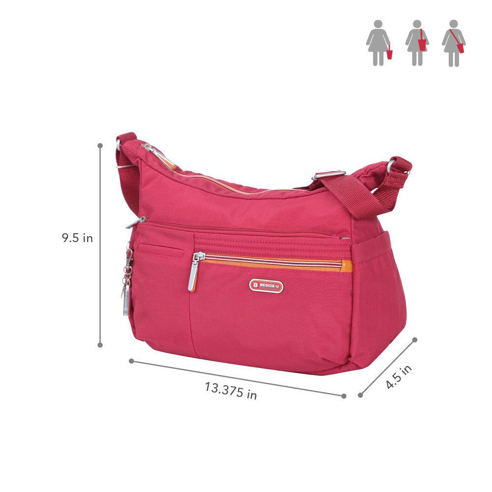 Crossbody Bag - Picardy Two-Tone Travel Crossbody Bag Size [Heart Red]