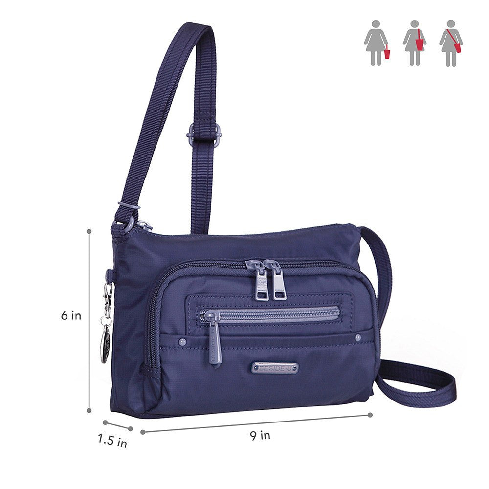 Crossbody Bag - Sandbach RFID Pocket Small Travel Crossbody Bag Size [Blue Depths]