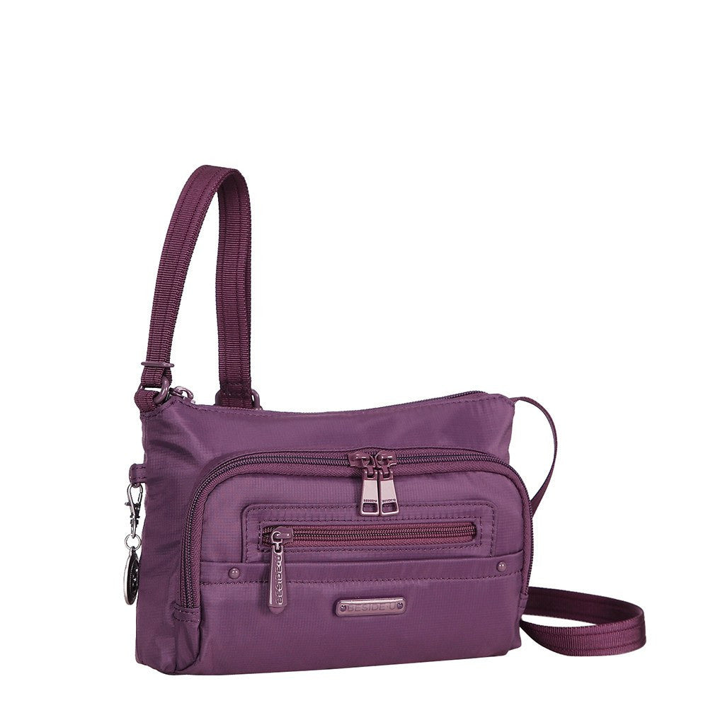 Crossbody Bag - Sandbach RFID Pocket Small Travel Crossbody Bag Angled [Wineberry Purple]