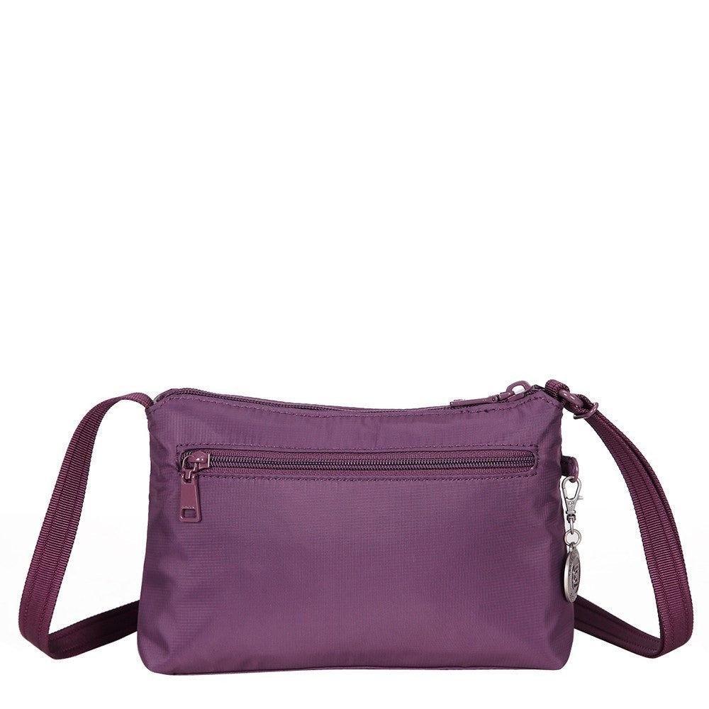 Crossbody Bag - Sandbach RFID Pocket Small Travel Crossbody Bag Back [Wineberry Purple]