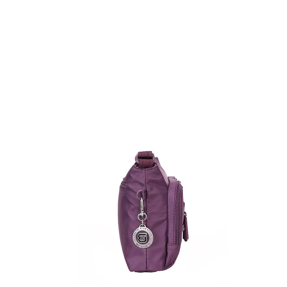 Crossbody Bag - Sandbach RFID Pocket Small Travel Crossbody Bag Side [Wineberry Purple]