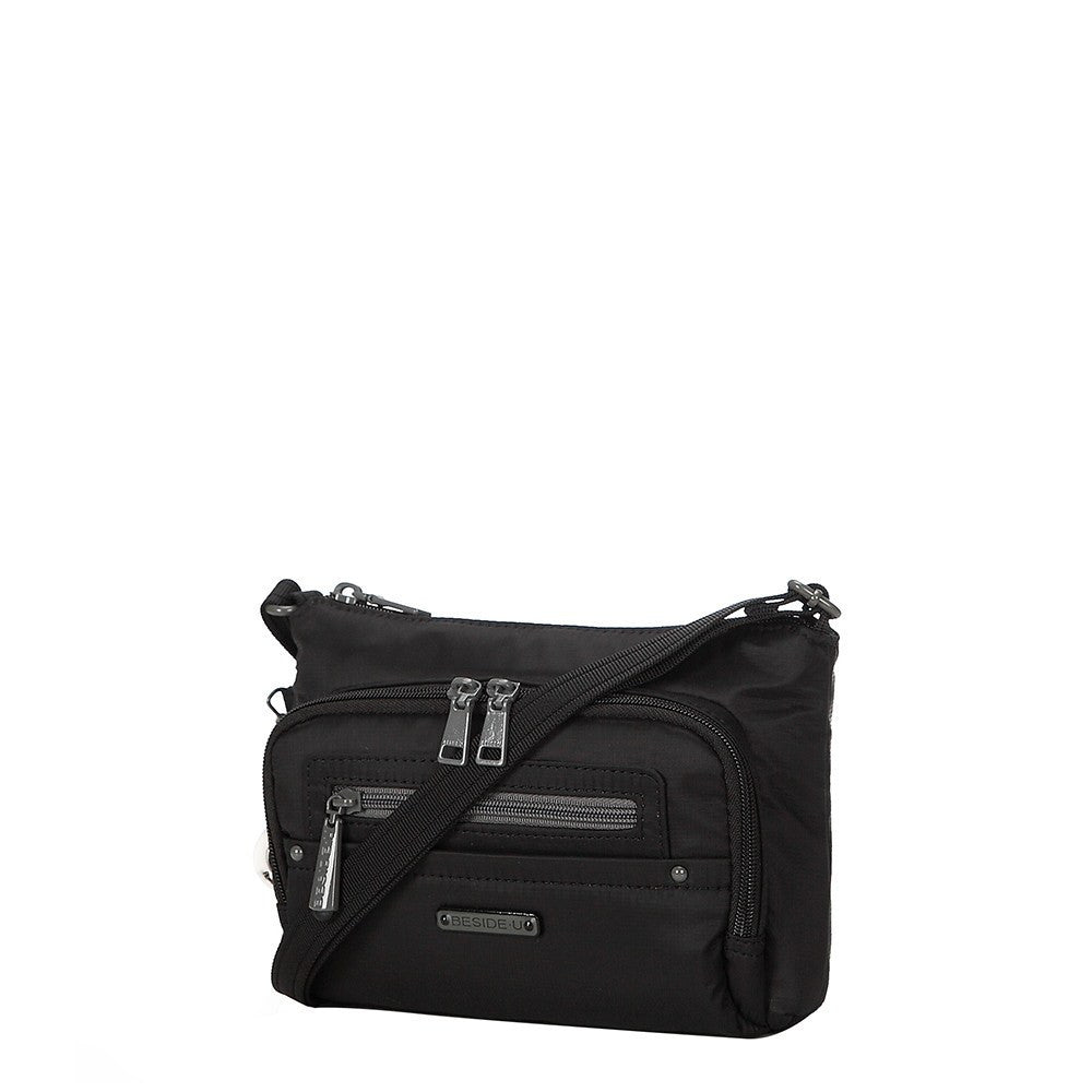 Crossbody Bag - Sandbach RFID Pocket Small Travel Crossbody Bag Angled [Black]