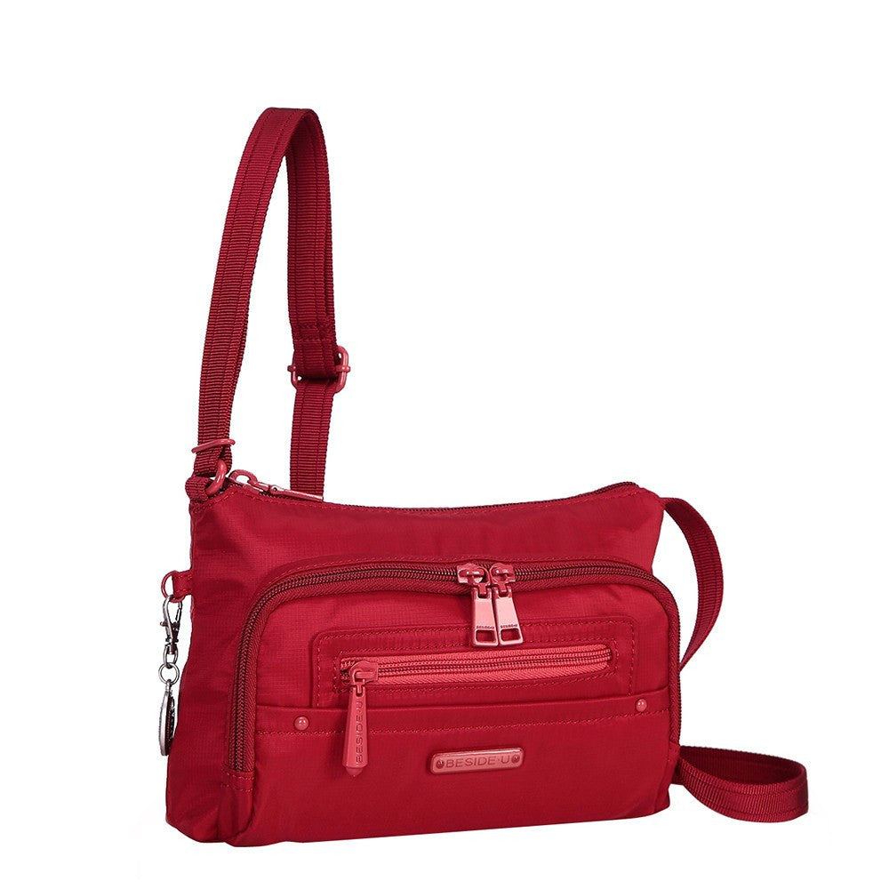 Crossbody Bag - Sandbach RFID Pocket Small Travel Crossbody Bag Angled [Jester Red]