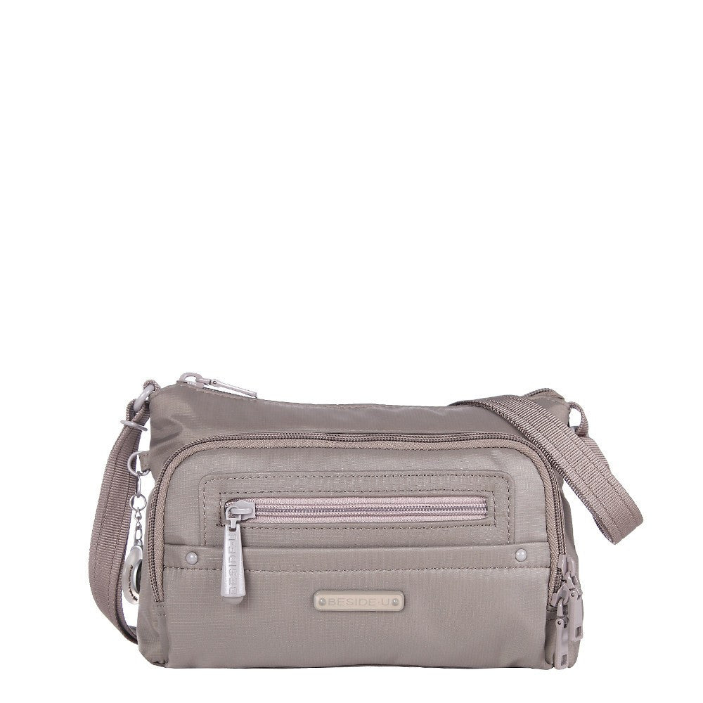 Crossbody Bag - Sandbach RFID Pocket Small Travel Crossbody Bag Front [Brindle Grey]