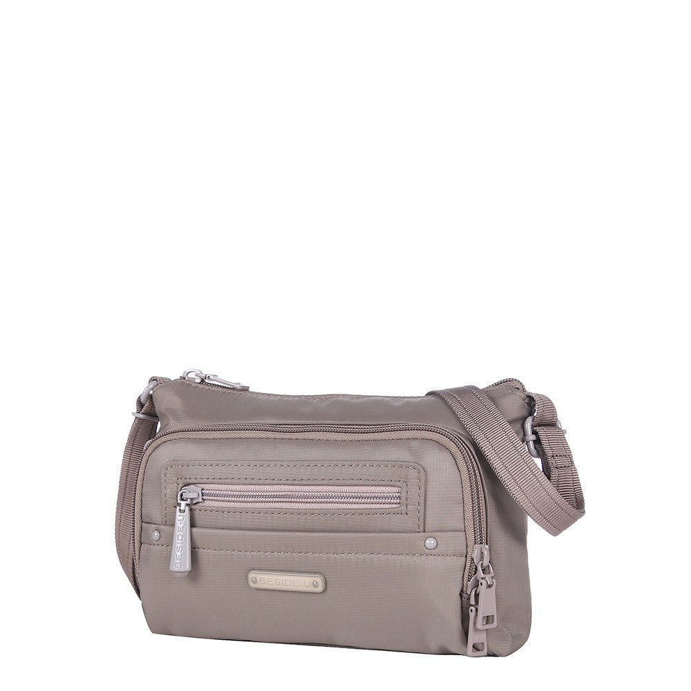 Crossbody Bag - Sandbach RFID Pocket Small Travel Crossbody Bag Angled [Brindle Grey]