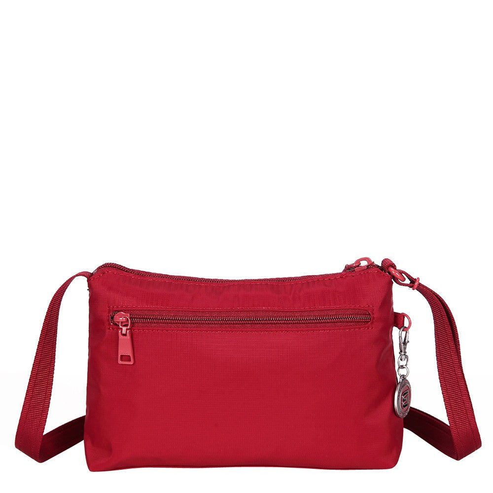 Crossbody Bag - Sandbach RFID Pocket Small Travel Crossbody Bag Back [Jester Red]